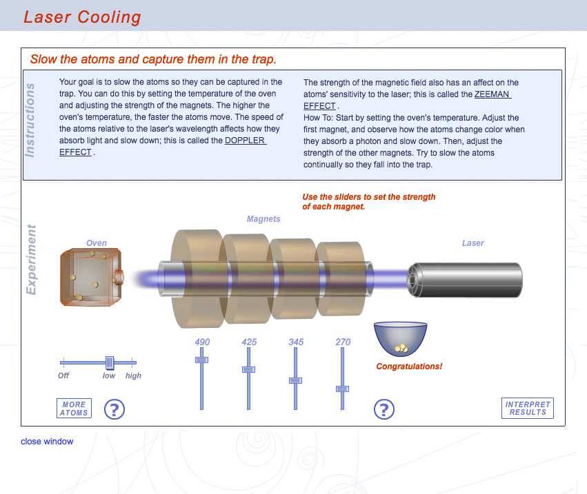 Laser Cooling Interactive